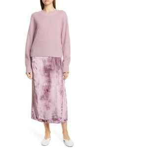 Vince Brushed Mohair-Blend Sweater Rosa Amarena